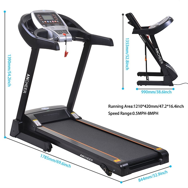 Electric Treadmill Running Equipment Electric Folding Treadmill Commercial Fitness Training Equipment VAF