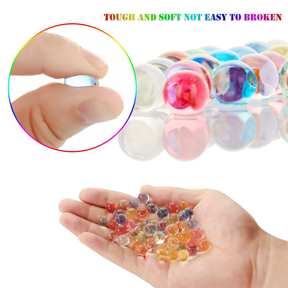 Mosunx Magic Jelly Fishbowl Beads Colorful Beads for Crunchy Homemade Slime DIY Crafts