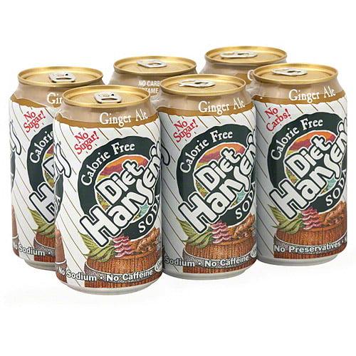 Hansen's Beverage Diet Ginger Ale Soda, 12 oz, 6ct (Pack of 4)