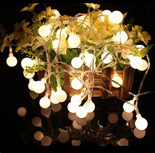 Qedertek Fairy Globe String Lights, 17ft 100 LED Landscape Lights with UL Certified Adapter For Patio, Lawn, Garden, Backyard (Warm White)