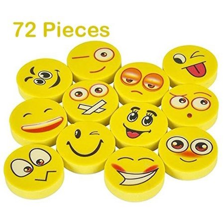 Emoji Eraser - 72 Piece Random Round Face Yellow, School Supply, Party Favor, Goody Bag Filler, Giveaway, For Boys And Girls Of All Age – By Kidsco - Party City For Boys