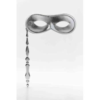 MASK ON STICK-SILVER](Silver Mask For Halloween)