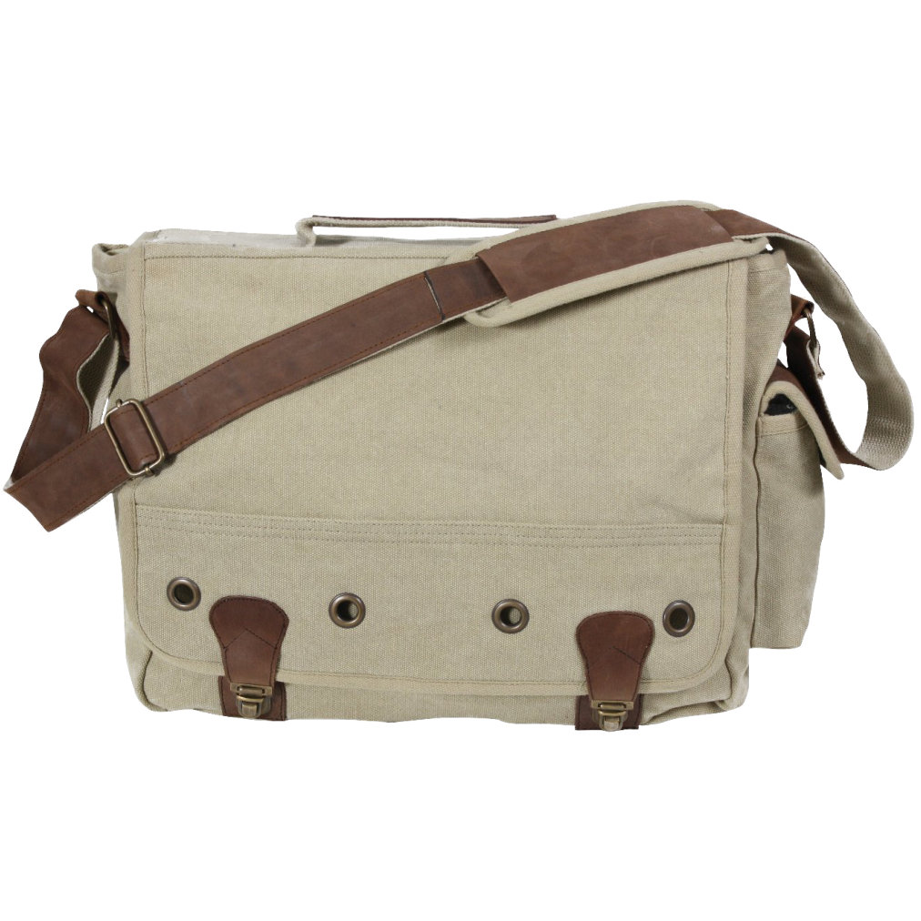 Rothco Vintage Trailblazer Laptop Bag with Leather Accents
