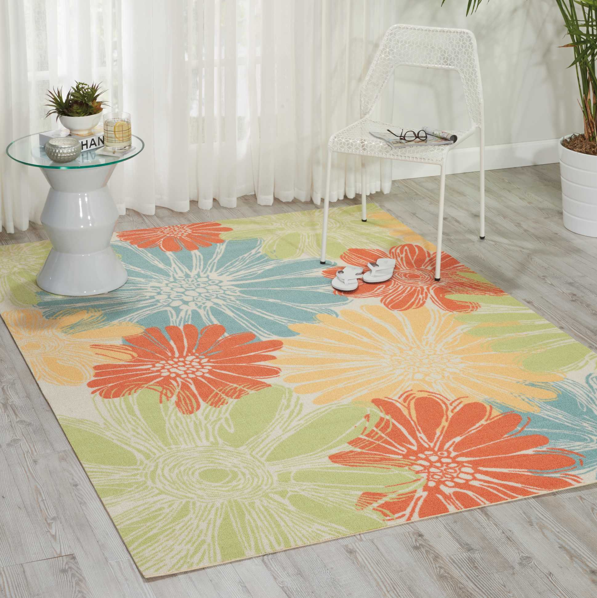 Nourison Home & Garden Ivory Indoor/Outdoor Area Rug