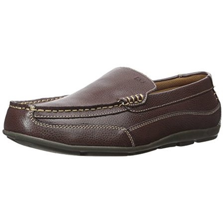 Tommy Hilfiger Men's Dathan Boat Shoe Brown Leather Loafers Leather Adult Casual Shoes