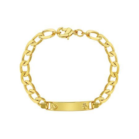 18k Gold Plated Tag ID Identification Bracelet for Toddlers or Children 5