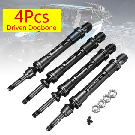 4Pcs Steel Front Rear Drive Shaft For Traxxas Slash 4X4 HQ727 Short Truck Slash, Rustler VXL, Stampede 4X4 VXL RC (Traxxas Slash Manual)