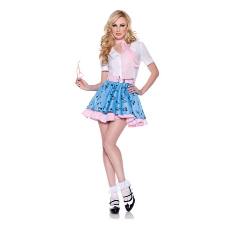 Adult 50s At the Hop Costume by Underwraps Costumes 29096, 16 to 18