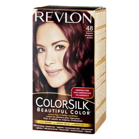 Revlon colorsilk 48 burgundy permanent hair color, 1.0 kit  Walmart.com