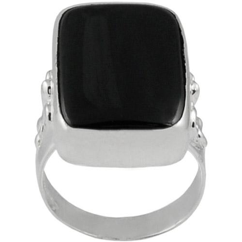 Brinley Co. Black Onyx Fashion Ring in Sterling Silver