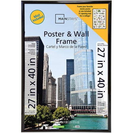 mainstays 27x40 trendsetter collage poster frame