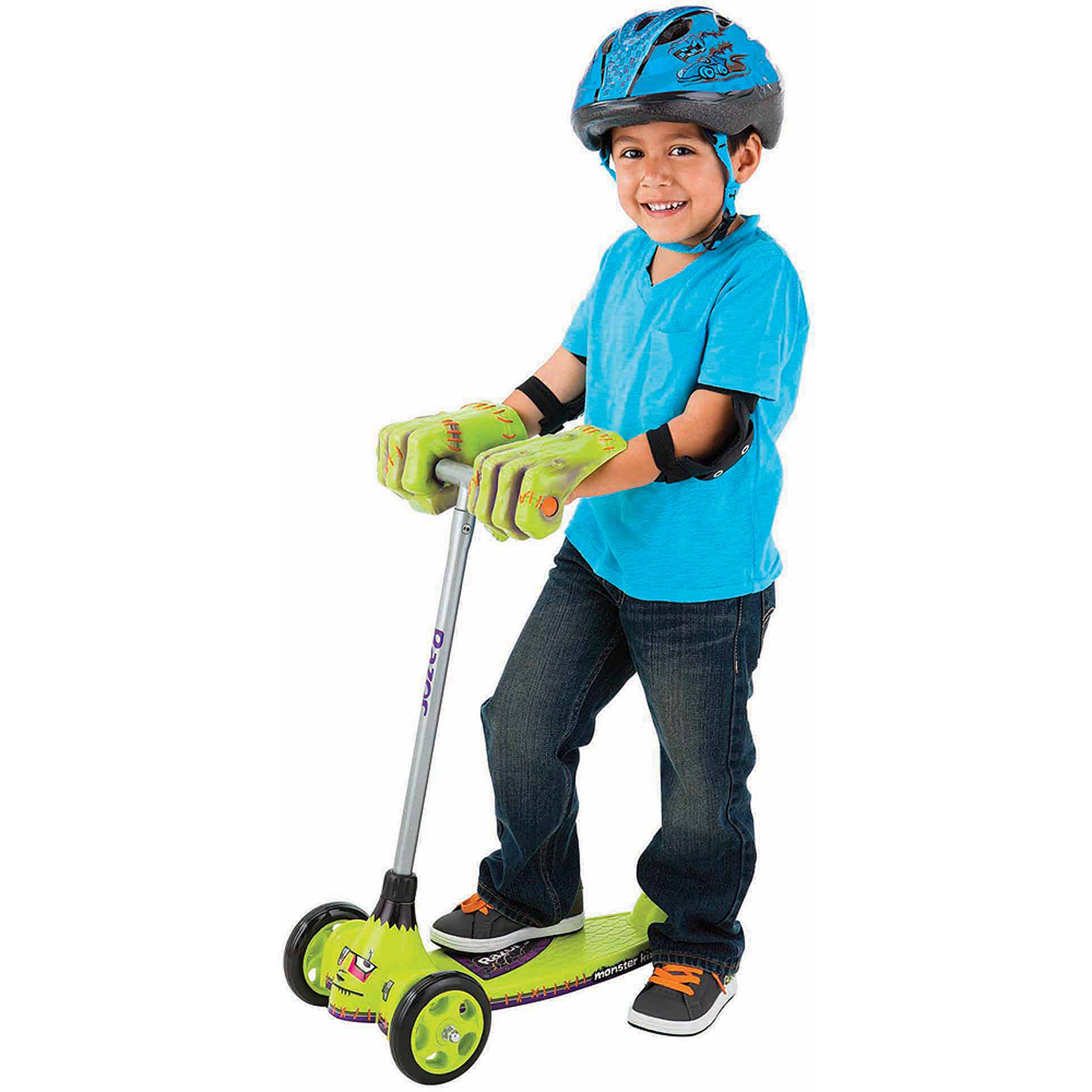 Razor Jr. Monster Kix Scooter, Green