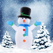 Costway 4 Ft Airblown Inflatable Christmas Snowman Decoration Lighted Lawn Yard Outdoor