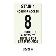 INTERSIGN NFPA-PVC1812(4GN8) NFPASgn,StairId4,FlrLvl8,FlrsSrvd1 to 8 G0264035