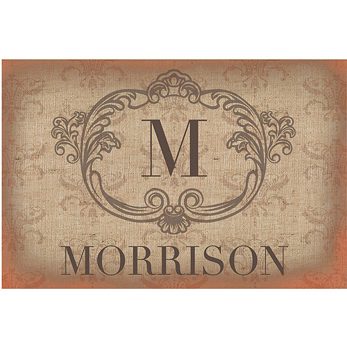 Personalized Vintage Family Initial Doormat