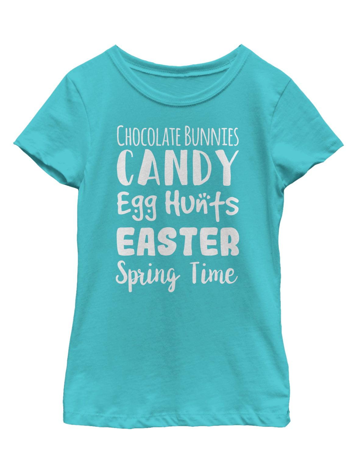girls' easter list t-shirt