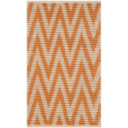 """Safavieh Cape Cod 2'3"""" X 3'9"""" Hand Woven Rug in Natural and Orange - image 1 of 2"""