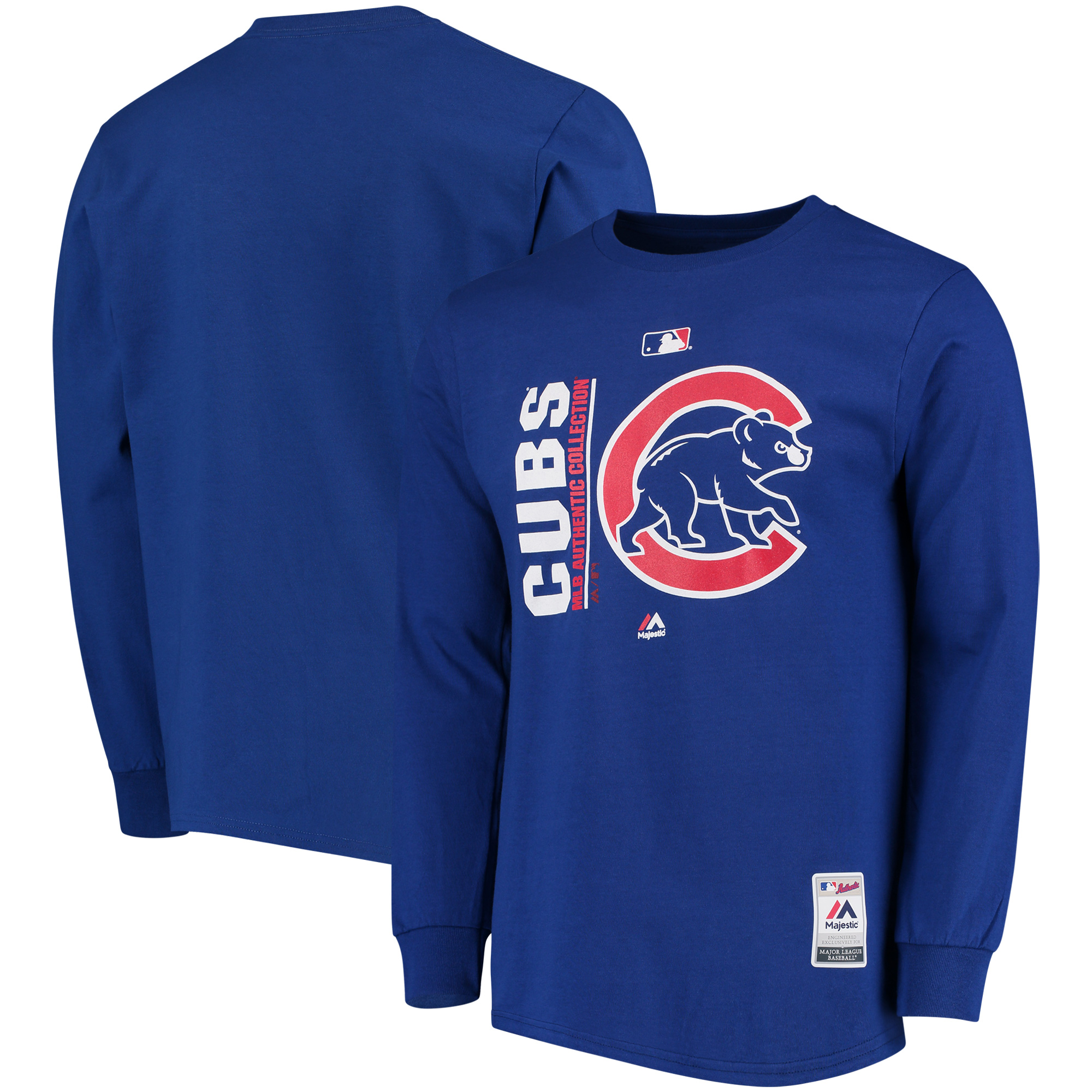 Chicago Cubs Majestic Authentic Team Icon Long Sleeve T-Shirt - Royal