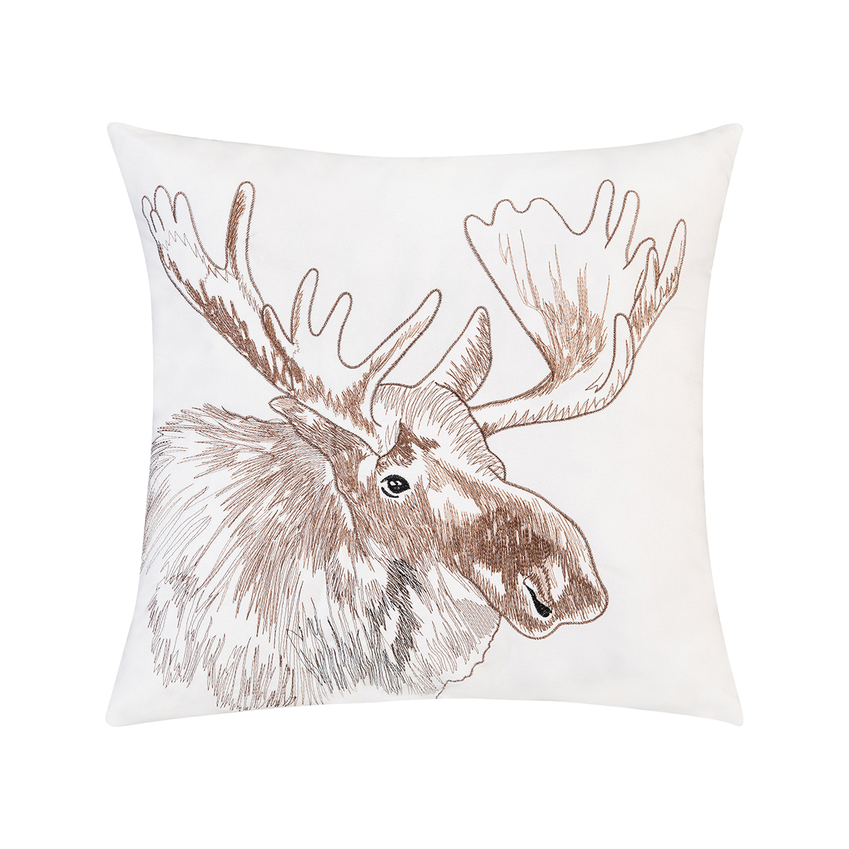 Moose Portrait Indoor Outdoor Embroidered Pillow Walmart Com Walmart Com
