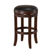 AHB Portofino 34 in. Swivel Tall Bar Stool - Suede with Merlot Leather