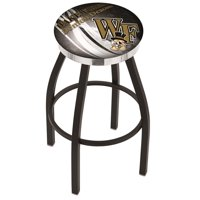 Wake Forest 25 Inch L8B2C Black Wrinkle With Accent Ring Bar Stool