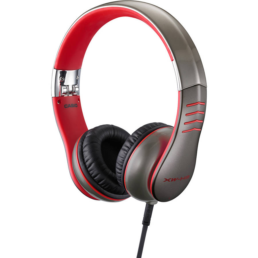 Casio XW-H1 Over Ear Headphones, Red by Casio