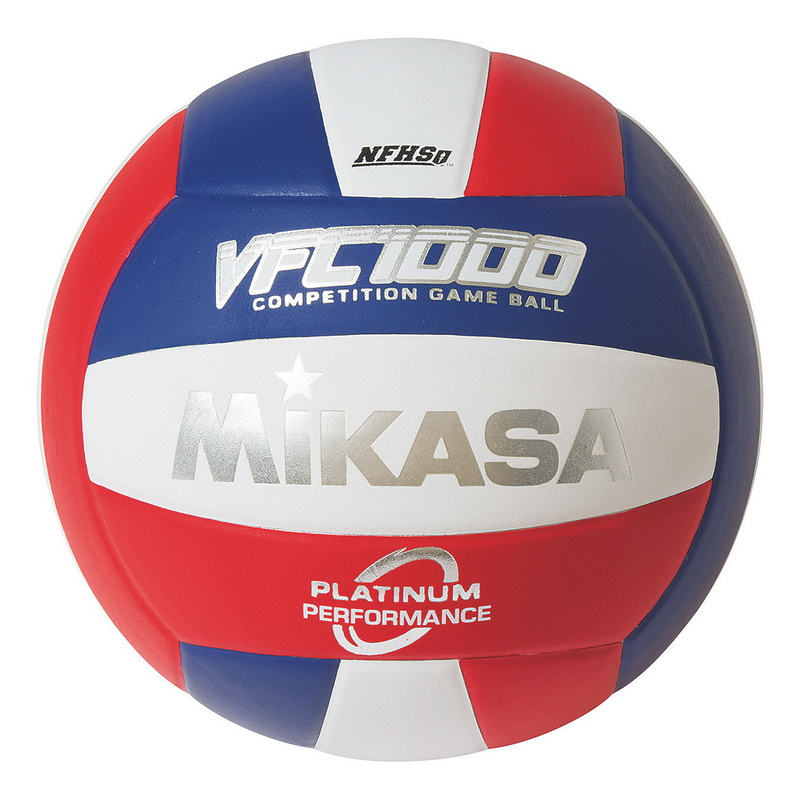 (Price each)Mikasa; Premium Leather Indoor Volleyball, Red White Blue by