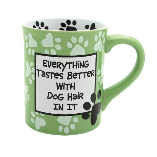 Enesco 4026113 Our Name Is Mud by Lorrie Veasey Dog Hair Mug, 4-1/2-Inch