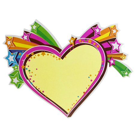 - Unique Bargains 10 x Stars Decor Yellow Heart Shaped Promotional Display Sign Cards