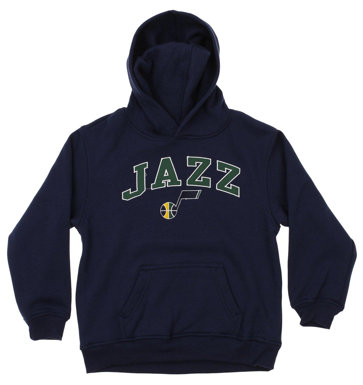 OuterStuff NBA Youth Utah Jazz Fleece Pullover Hoodie, Navy