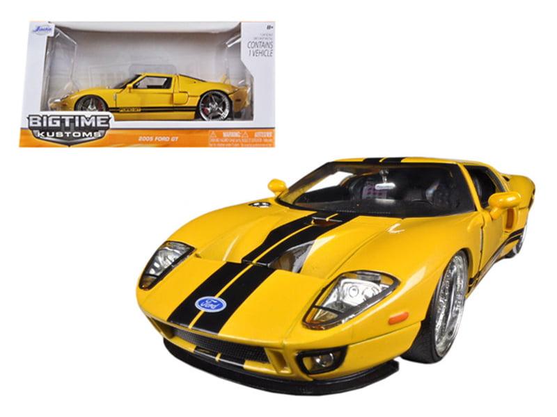Jada Toys Y   Ford Gtcast Model Car Yellow