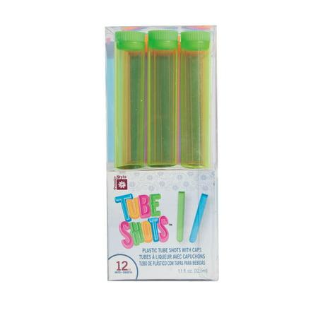 Neon Plastic 1.1oz Test Tube Shot Glasses,