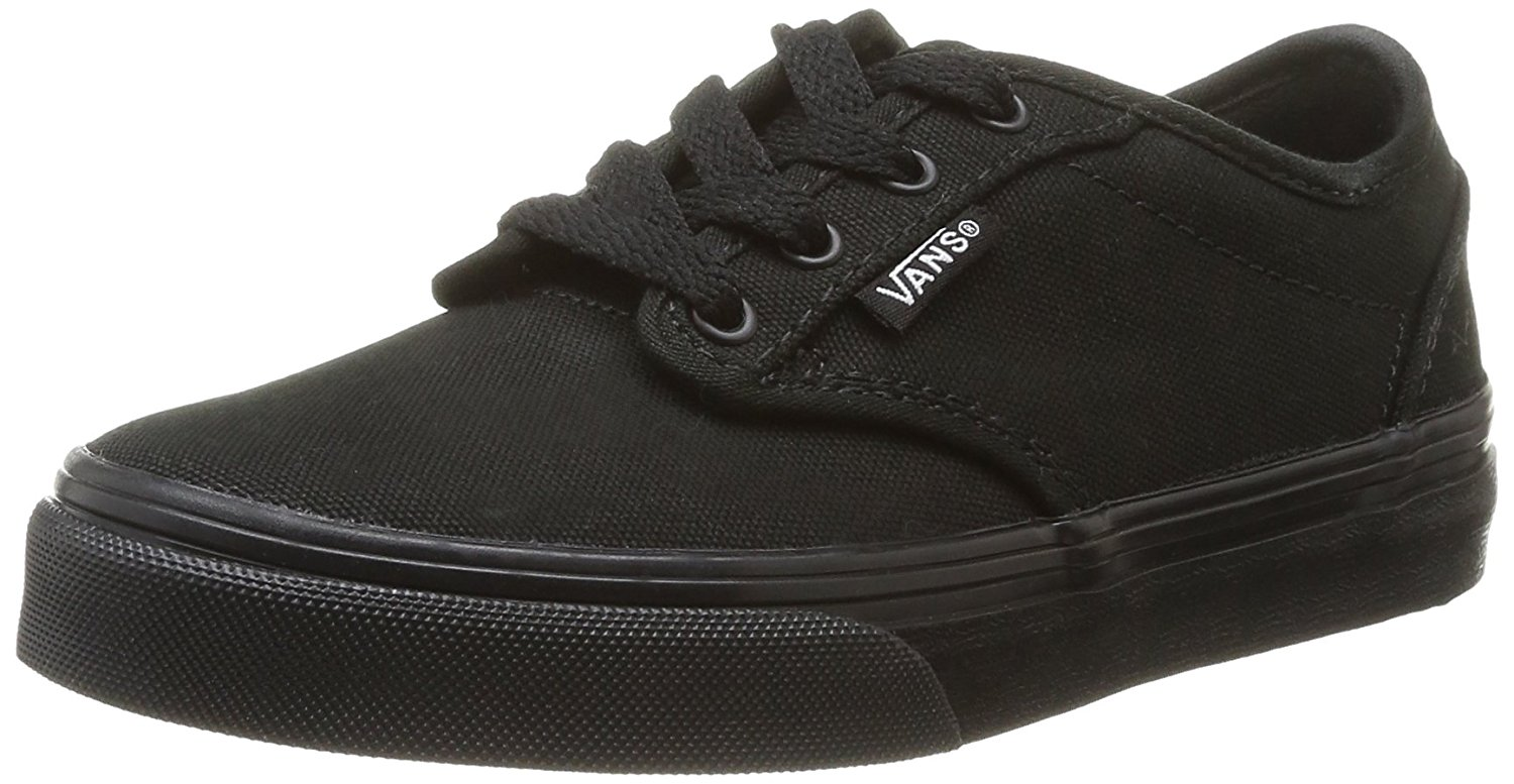 VANS Atwood Black/Black Canvas Shoes Girls/Boys Youth/Big Kids