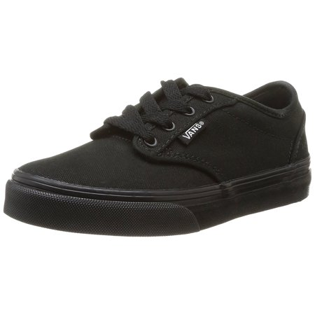 VANS Atwood Black/Black Canvas Shoes Girls/Boys Youth/Big Kids](Vans Boys Slip On Shoes)
