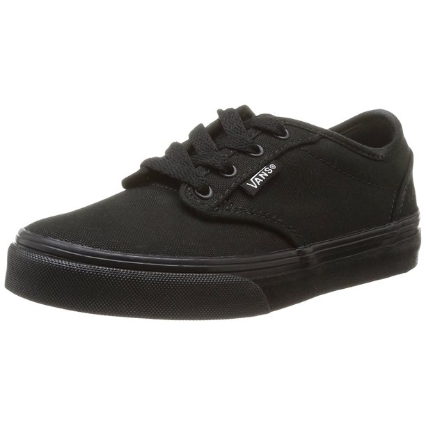 VANS Atwood Black/Black Canvas Shoes Girls/Boys Youth/Big Kids