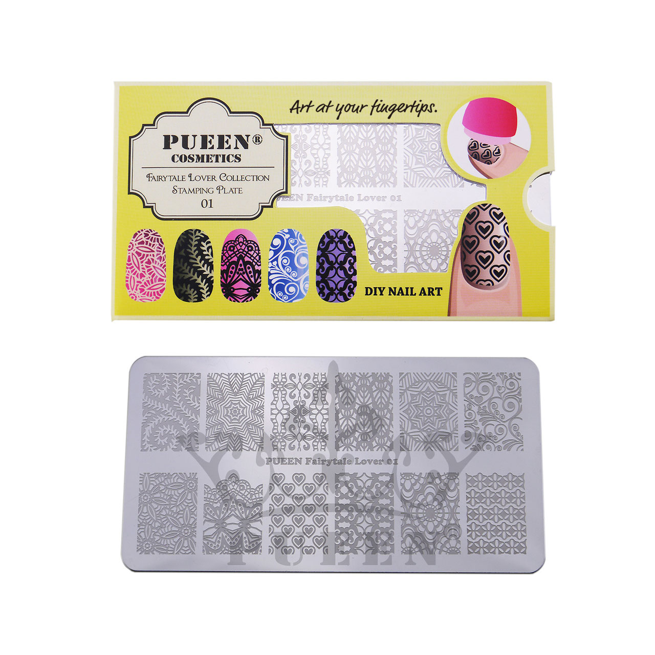 Pueen Stamping Plate Fairytale Lover 01