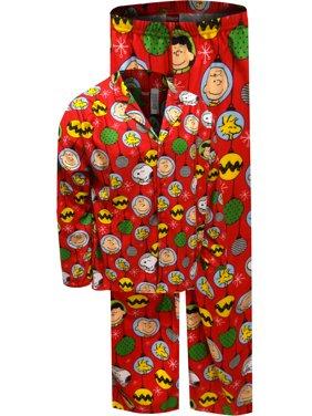09724d9d42 Product Image Peanuts Charlie Brown Christmas Ornaments Mens Pajama