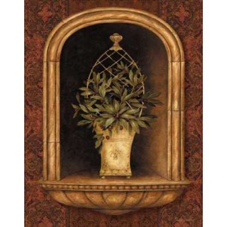 Olive Topiary Niches II Poster Print by Pamela Gladding
