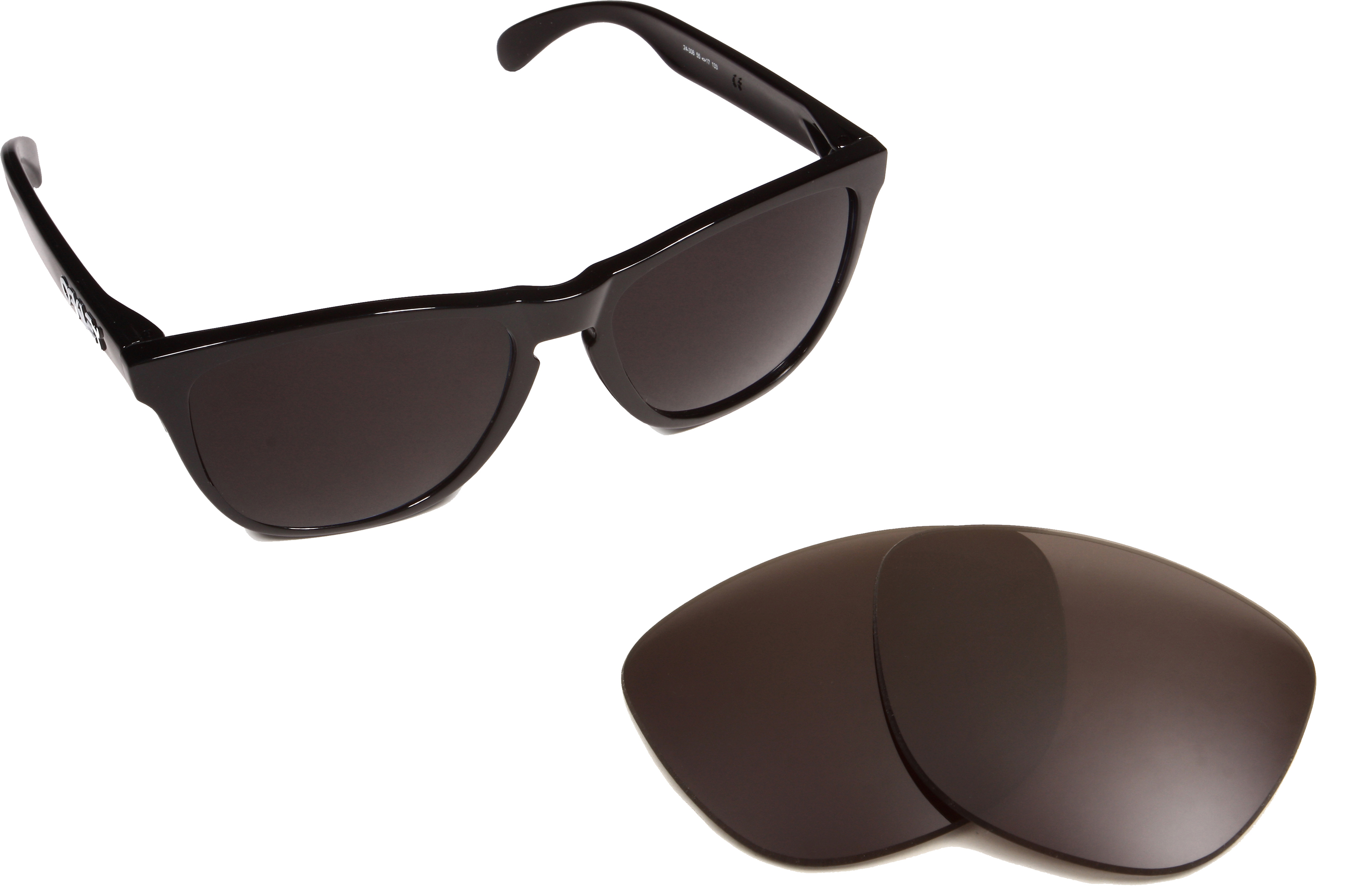 4028bc36ef77a Frogskins Replacement Lenses Polarized Grey by SEEK fits OAKLEY Sunglasses