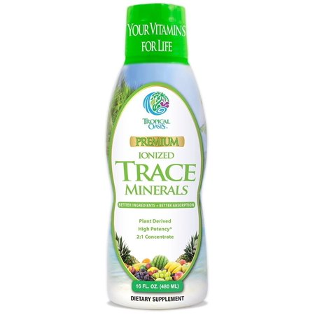 Premium Natural - Premium Plant Based Trace Minerals - 74 Natural Organic Ionized Trace Minerals, 16 Oz, 32 Servings