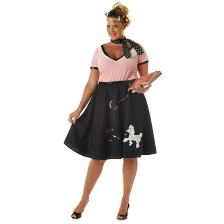 50's Sweetheart Plus Size Costume - Halloween Costumes For 50's Girl