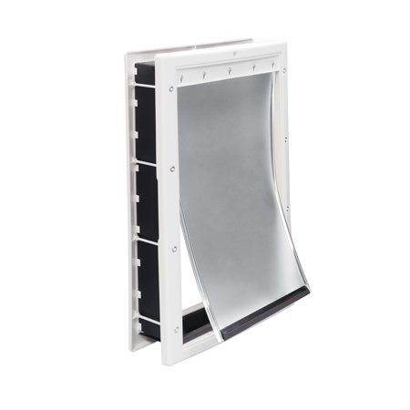 Premier Pet White Plastic Pet Door For Large Dogs Up To 100 Pounds