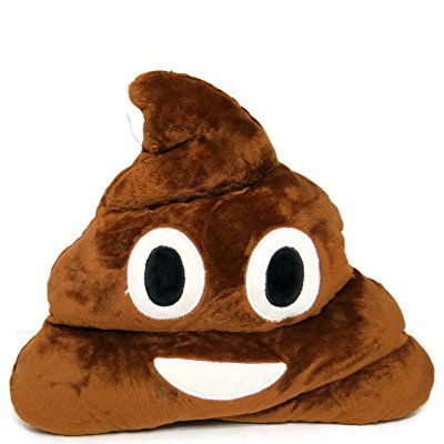 Cell Phone SMS Emoji Pillows Soft Plush Poop Emoticon Decorative Throw Pillows by