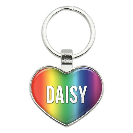 Daisy I Love Name Heart Metal Key Chain (Daisy Love)