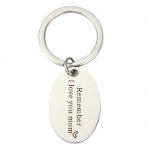 Fancyleo 1 Pcs Mother's Day Gifts Key Ring Remember I Love You Mom Charm Key Chain Jewelry Best
