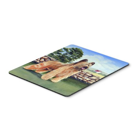 - Briard by the stone fence Mouse Pad, Hot Pad or Trivet