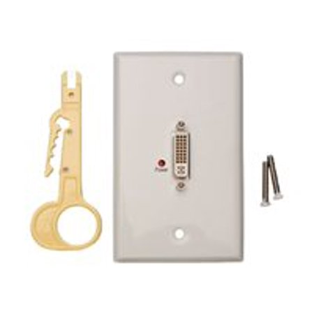 Tripp Lite DVI Over Cat5 Passive Extender Remote Wallplate - Video extender - up to 99 ft