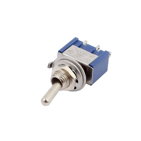 AC 250V 6A SPDT ON-OFF-ON 3 Positions 3 Terminals Latching Miniature Toggle Switch - image 1 of 2