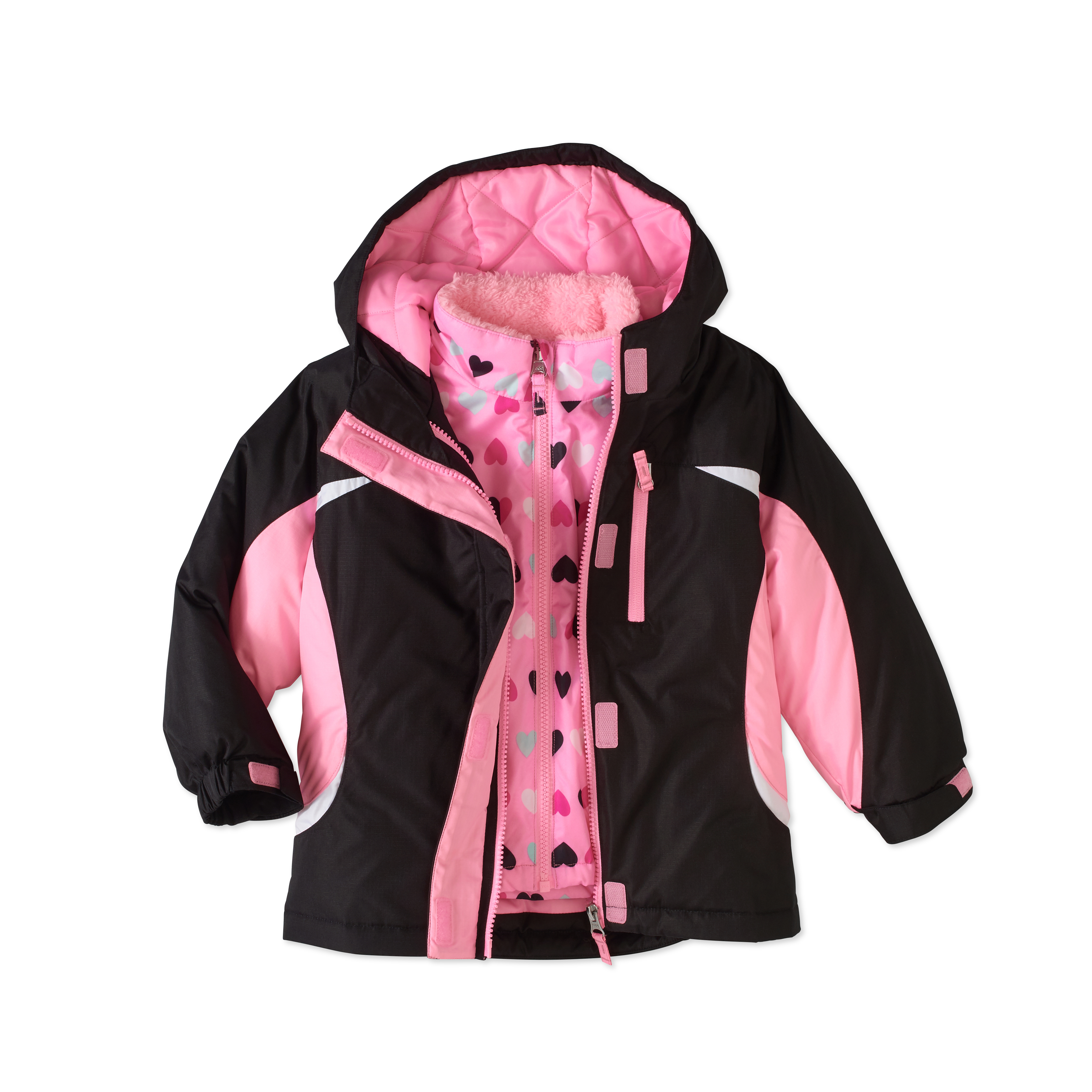 Healthtex Baby Toddler Girl 3 In 1 Ski/Snowboard Jacket With Removable Inner Layer