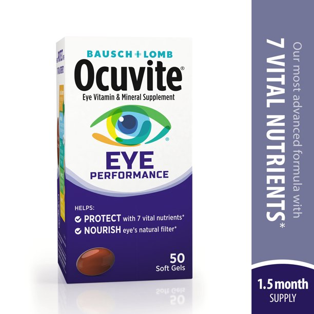 Ocuvite® Eye Performance Vitamin & Mineral Supplement 50 ct Soft Gels